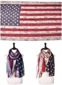 America flag scarves